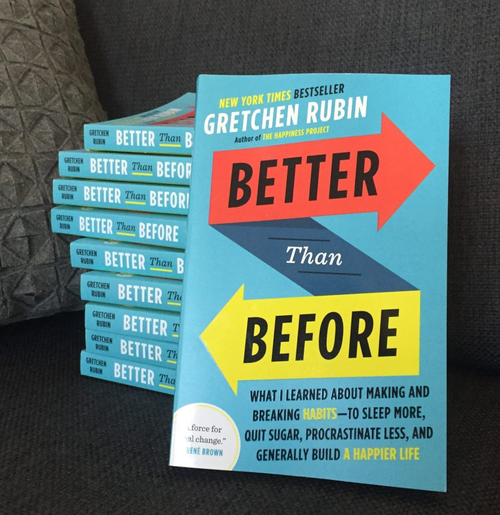 Better Than Before - a book about making and breaking habits