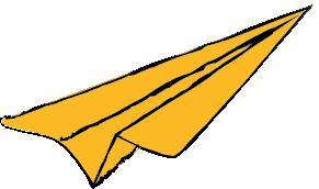 Paper Plane Yellow
